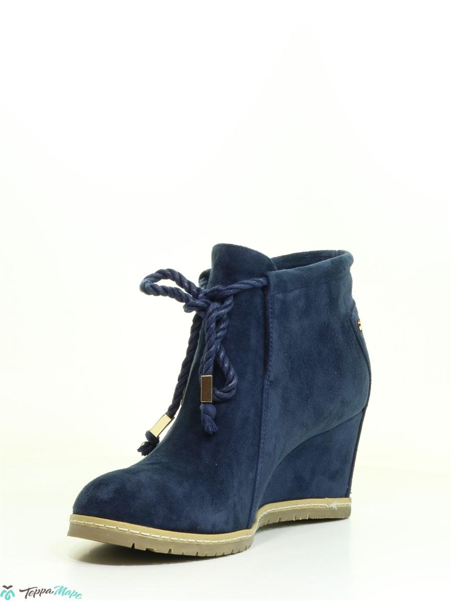 358a8a98 Купить синий ботинки (на танкетке) оптом 8938-301-син, нат. велюр ...